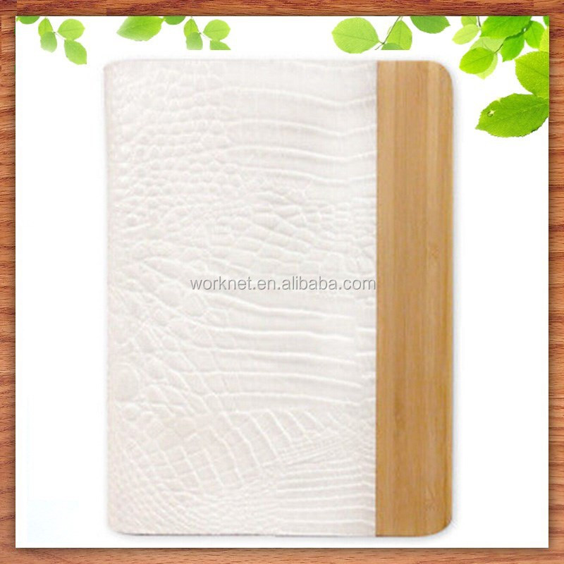 Christmas gift wholesale wood tablet cover for ipad air 2 leather case