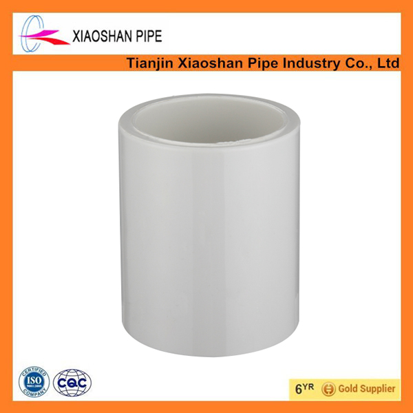 China supplier astm sch 40 water supply pvc pipe fittings coupling