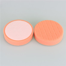 6'' high quality orange diamond pattern foam polishing pad care detailing foam pad