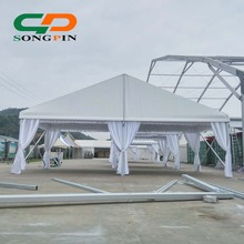 10x10 hot sale qatar tent guangzhou wedding tent with white linings and curtains