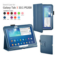 PU Leather Stand Case Cover for Samsung galaxy Tab 3 10.1 Tablet