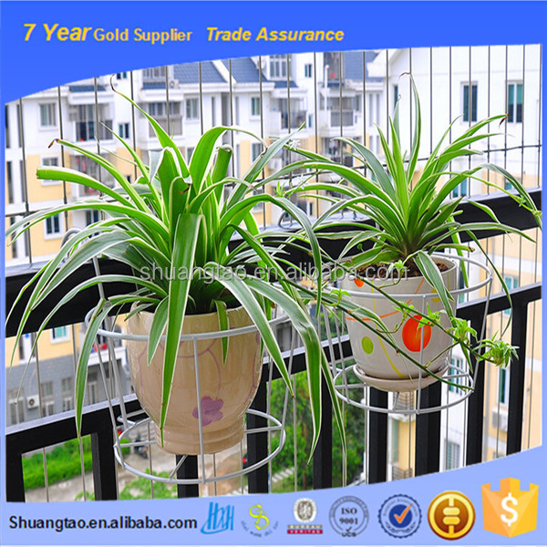 Portable useful flower stand hanger, iron flower pot stand, wire iron flower pot stand