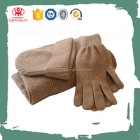 Wholesale Knitted Cashmere Scarf Beanie Hat And Glove Set