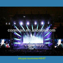 visual media definition stage backgroud screen /die-casting led screen/full color led stage screen