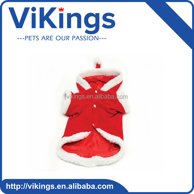 Dog Pet Products Red and White Color Christmas Dog Coat
