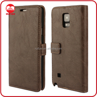 Manufacturer Book Style Retro Vintage Flip Leather Wallet Phone Case for Samsung Galaxy Note 4 Wholesale
