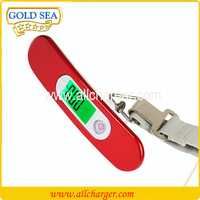 Brand customized 50kg digital electronic hanging scale type luggage scale,handy portable weighing