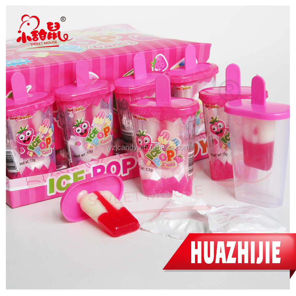 185201610 High quality kids ice cream fruity flavour lollipop