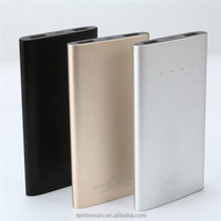 Power Bank, Portable Slim Aluminium Alloy Mobile silver beauty battery charger Pack for iPhone, iPad, Samsung, HTC, Google LG