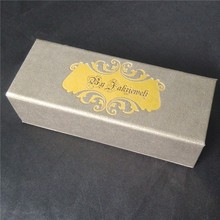 Luxury design! Available choice for the type of the speciality paper of the whole paper box with foil stamping logo