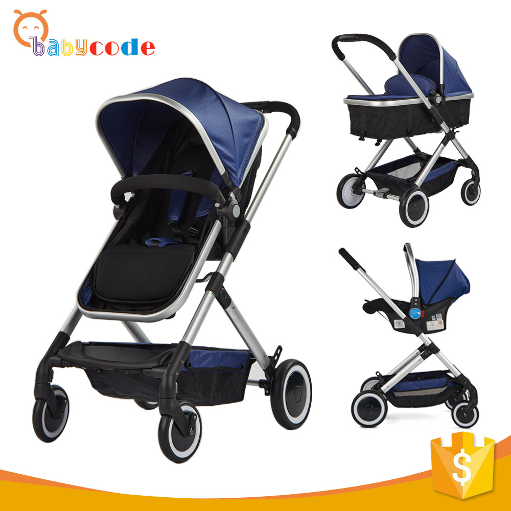Lightweight Easy folding 3 in 1 baby stroller with en1888