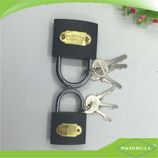 Heavy duty cheap iron cylinder and flash keys Grey iron padlock