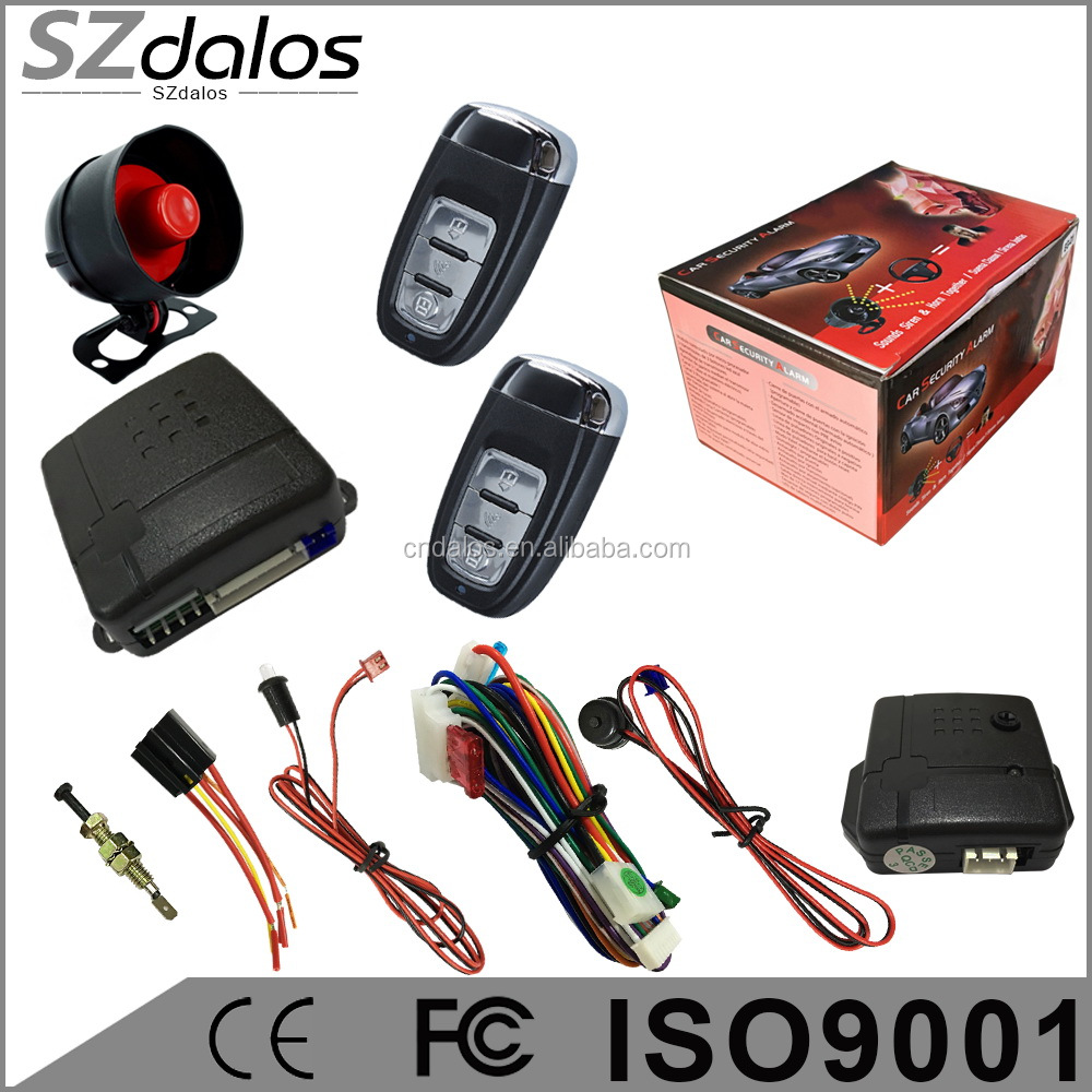 OEM One way car alarm security system with built-in shock sensor for South America Market