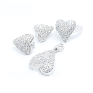 925 sterling silver jewelry set latest Design Spring Summer Charming Antique Alloy heart Pendant Jewelry set