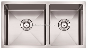 "American standard 3219 undermount double bowl hand made 32""X19"" 60/40 stainless steel Kitchen sink"