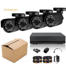 4CH 1080N AHD DVR Security Camera System Home Video Surveillance With AHD 720P Outdoor Wide Angle Day/Night Vision Waterproof Bu