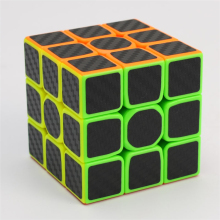 children educational toys carbon fiber sticker speed promotional 3x3 custom magic puzzle cube