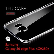 0.5mm Ultra Thin TPU Transparent Clear Protective Case for Samsung Galaxy S6 edge Plus G9280