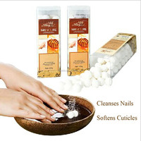 The Best Selling BATHRANI Manicure Soak Fizzies Manicure And Pedicure Products Milk & Honey 250g For Nail Art Supplies