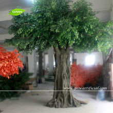 GNW BTR026 Huge Decorative Artificial Banyan Green Trees 12ft high with fake stump for garden decoration