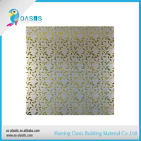 Golden shine high quality pvc ceiling panel used for building material