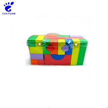 Customized colorful construction building eva blocks toy for kids