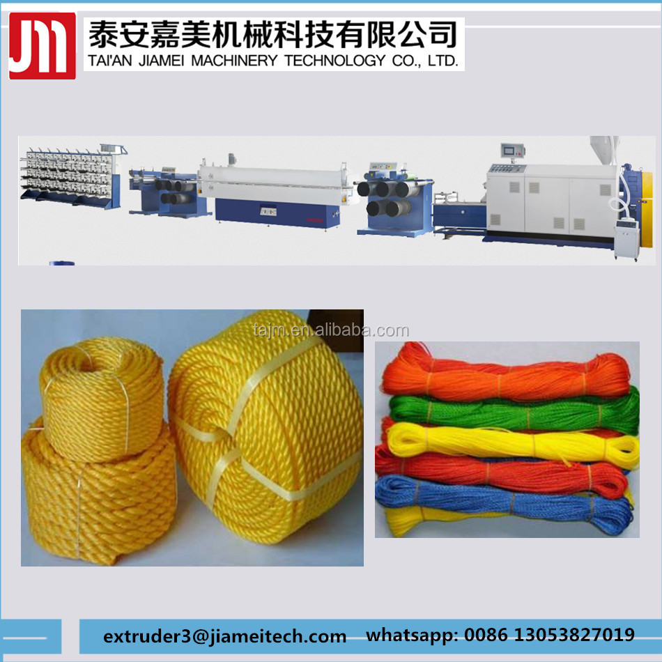 pp/hdpe mono filament twine extruding line/ Plastic round wire yarn extruder