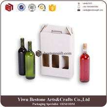 Red Wines Packaging Corrugated Paper Wine Box with Clear Window