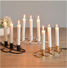 New design wrought iron banana leaves candle holder for home decoration