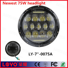 "newest design high intensity 7"" 75w led headlight for Jeep"