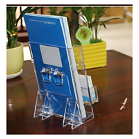 New Design Acrylic Brochure Holder Shop Acrylic Stand Menu Display Stand Table Number Holder