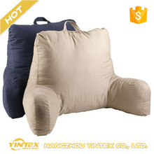 All size color accepted custom wholesale cheap back neck support rest watching tv reading pillow with removable cover and arm