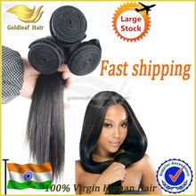 factory sale 100% unprocessed indian temple human hair exporter