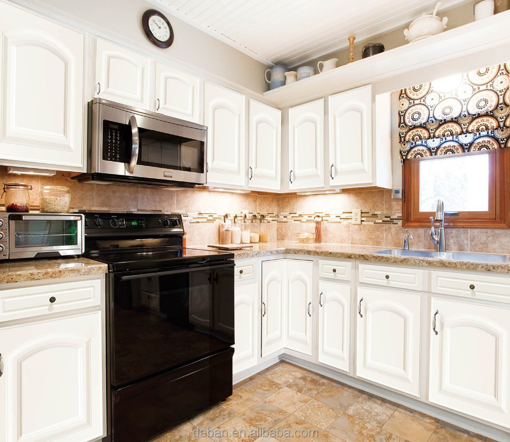 Latest new design pvc kitchen cabinet buy pvc kitchen for New style kitchen cabinets