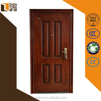 Steel sill rockwool perlite fireproof board filled fire rated door,powder coated sound insulation fire rated door