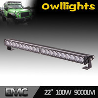 "New Design Super Bright 22"" 100W LED Driving Bar Light, Off Road, 4x4, SUV, ATV, Single Row LED Light Bar 12V 24V"