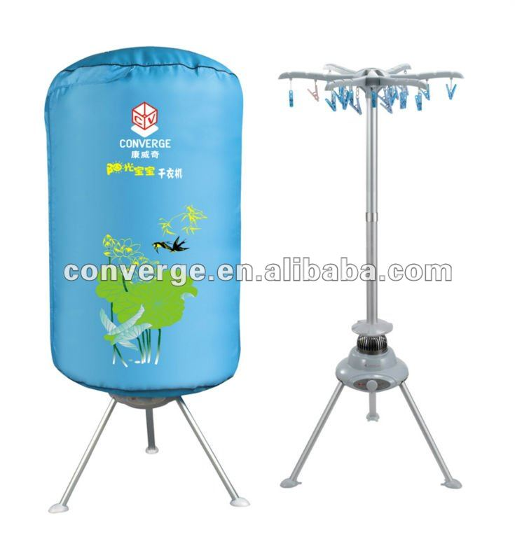 converge mini clothes dryer with multiple function and 24 clothes-pin