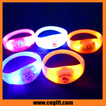Party favor sound activated led flashing light wristbands