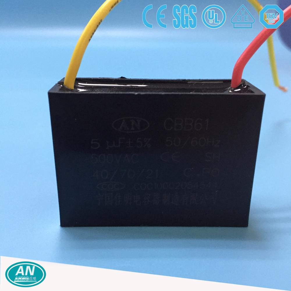 High quality cheap price spiral metallized cbb61 sh capacitor 450vac 5uf on sale