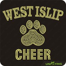 Quality guaranteed western rhinestone transfers cheer paw