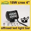 4x4 accessory cree 18w led offroad mini light bar 4inch