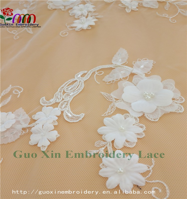 GUOXIN guangzhou supplier embroidery lace fabric lace textile 60921
