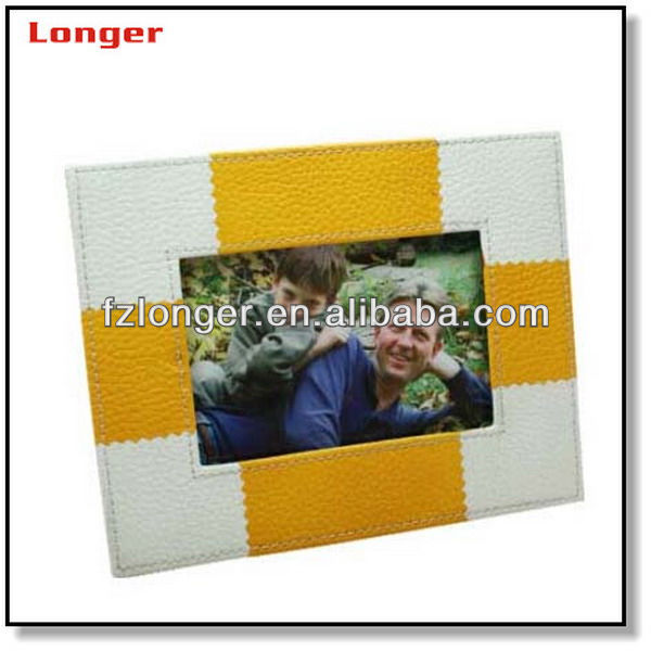 High end leather photo frame picture frame for family LG5036