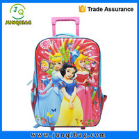 luna mini cartoon school bags backpack frozen kids bag 3d school bag two set new arrive Cartoon trolley backpack with wheels