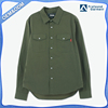 wholesale custom designs embroieded shirtslong sleeve army green cotton shirts casual shirts for men