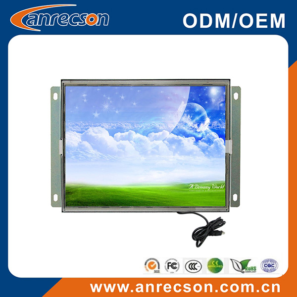 8 inch industrial 4:3 open frame touch screen LCD monitor