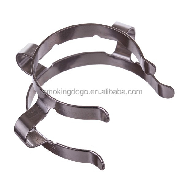 Smoking Dogo Wholesale Metal Keck <strong>Clips</strong> for Lab Glass Pipes Metal Keck Clamp 18mm