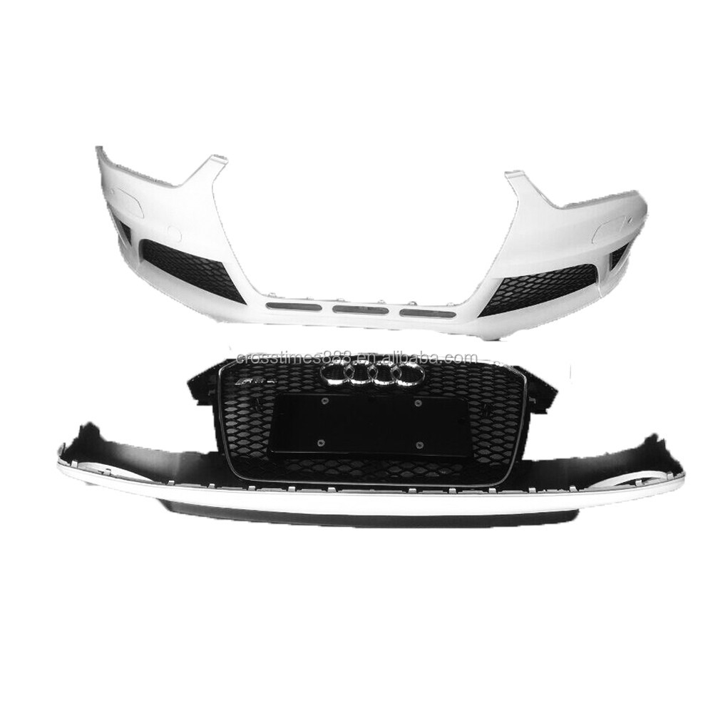 CARBON FIBER GRILLE +REAR LIP +FRONT BUMPER FOR AUDI A4L B9