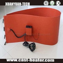 Thick film heating element silicone heating pad for drum