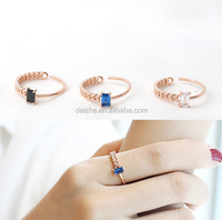 2016 high quality unique braid rope design nice girl rose gold ring